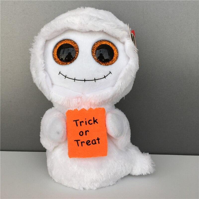 15 см ты, большие глаза, Редкие Мягкие животные, белый призрак, носите плюшевую куртку, мягкие игрушки, коллекционная кукла, Рождественский по...