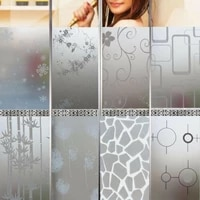 Offre Speciale chambre salle de bains maison verre fenetre porte confidentialite Film autocollant PVC givre porte autocollant salle de bains pour la decoration interieure 200X45