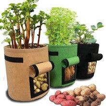 Sacs de culture de plantes 3 tailles   Pot de pommes de terre de jardin maison, sacs de culture de légumes de serre, sac de jardin Vertical de semis, conteneur de bonsaï