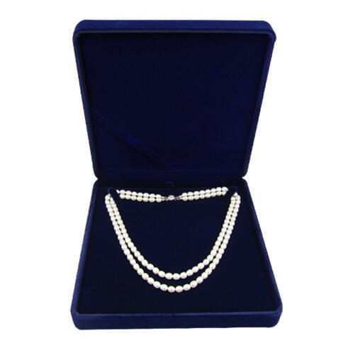 19x19x4cm veludo caixa de jóias longo pérola colar caixa de presente para cordas duplas
