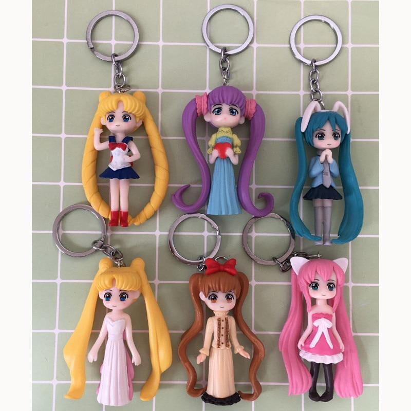 Cosplay de Anime 2020, llavero de Sailor Moon, llavero de Mars, Júpiter, Venus, mercurio, juguetes epoxi, colgantes de bolso, regalo para niños