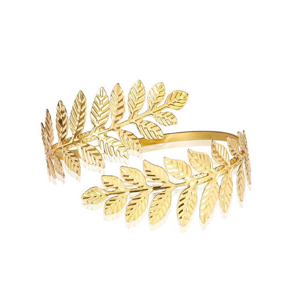 Позолоченный посеребренный греко-римские лавровый лист браслет на руку верхняя рука манжета нарукавник фестиваль свадебные украшения для ...