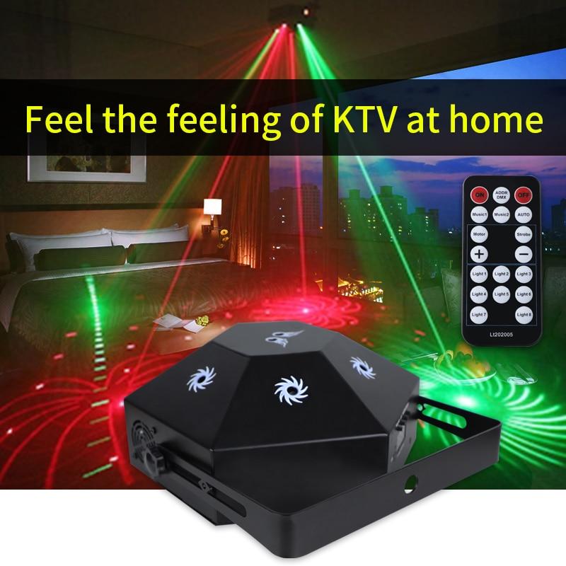 جهاز عرض ليزر RGB مع 8 عيون ، ضوء ملون ، موسيقى ، KTV بنغدي ، حفلة ، مسرح ، عيد الميلاد ، بار ، ديسكو ، إضاءة ليلية