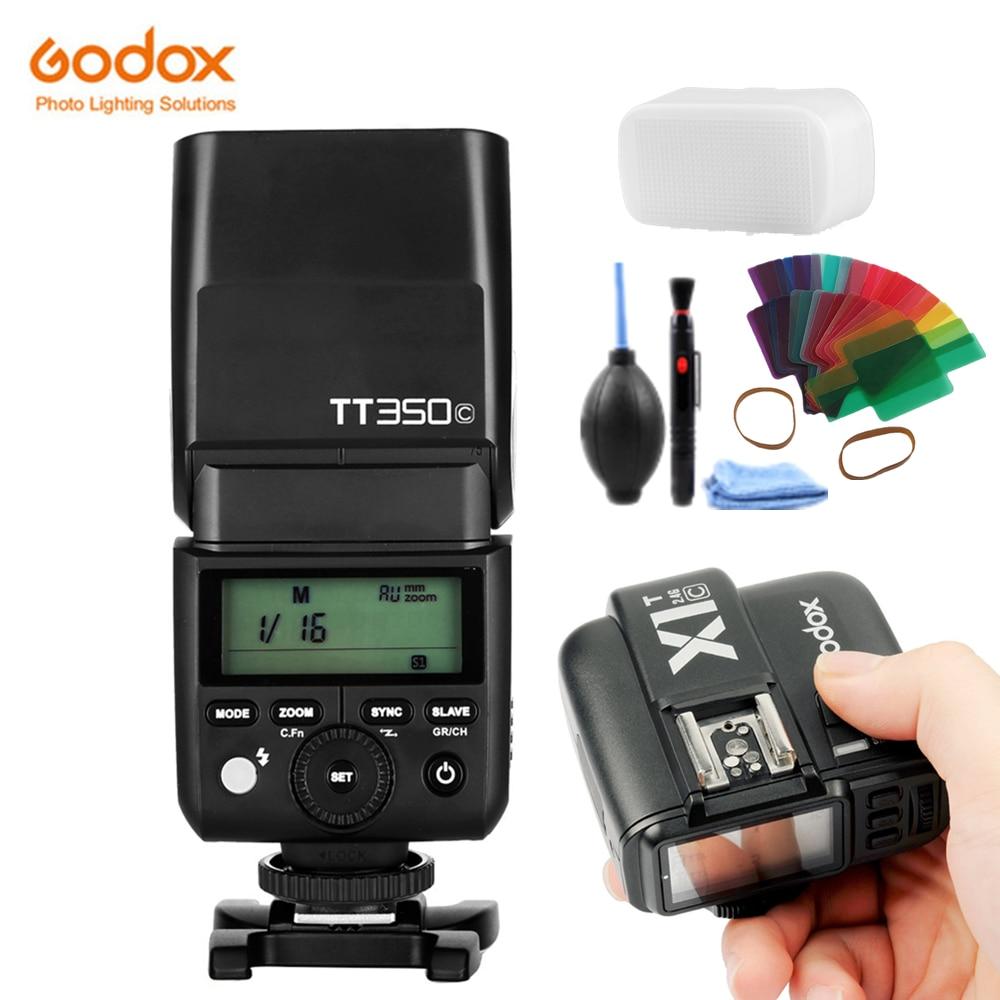 GODOX TT350C Camera Flash 2.4G Draadloze TTL HSS GN36 Flash Speedlite Pocket lichten + X1T-C Zender Voor Canon DSLR camera