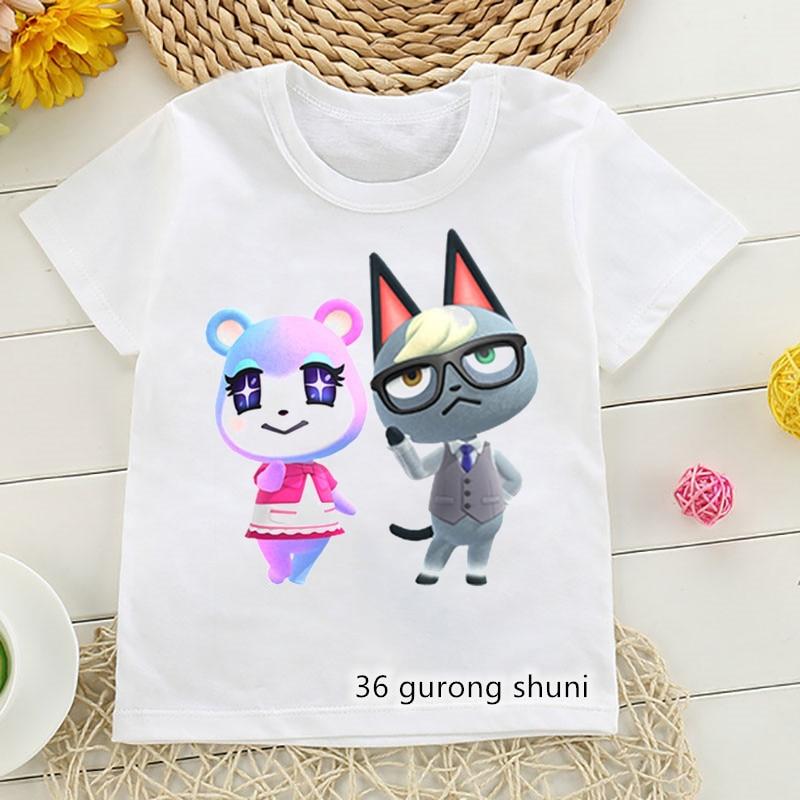 boys animal print t shirt Newly children's tshirt cute animal cat cartoon print boys t-shirt Harajuku tee hip-hop girls t shirt casual boys/girls clothes