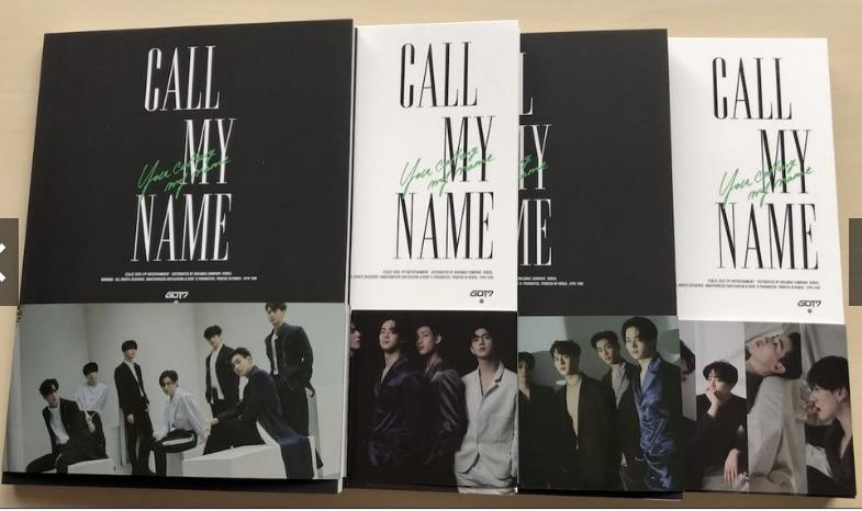 mykpop 100 original oficial got7 mini album de chamada de meu nome colecao de fas kpop sa20070801