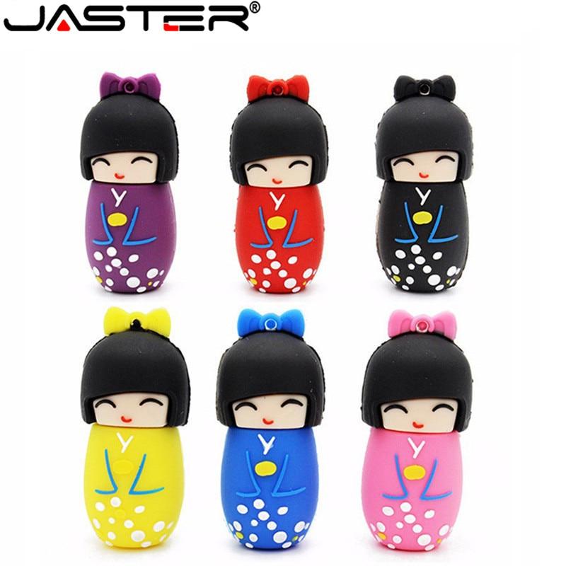 JASTER La japoneses nuevos muñeca USB flash drive USB 2,0 Pen Drive...