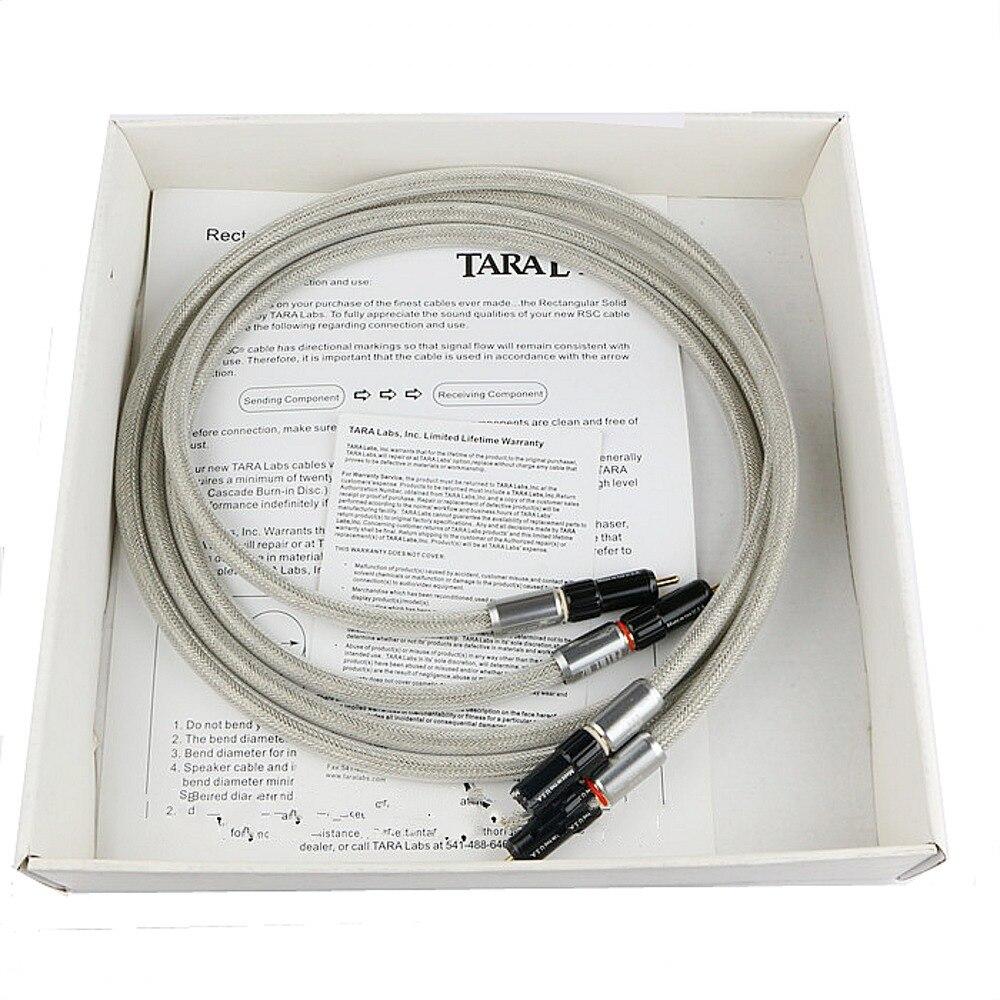 Paire Tara Labs Prime M2 A-OF8N cuivre tressé bouclier câble dinterconnexion avec connecteur RCA