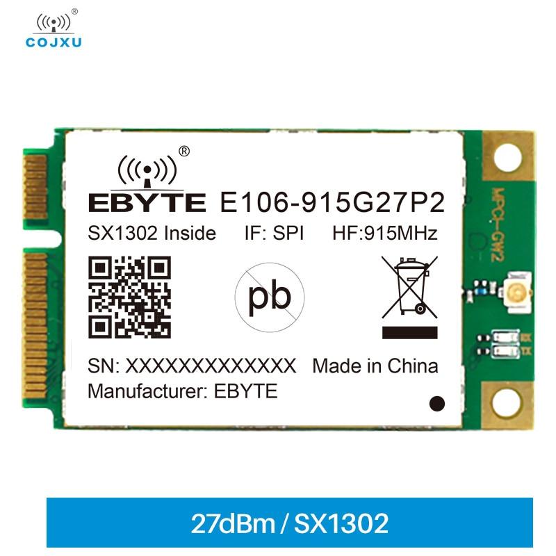 E106-915G27P2 SX1302  LoRaWan Gateway Module Data Transmission SPI 910~920MHz 27dBm PCI-e Interface PCI-e Anti-interference