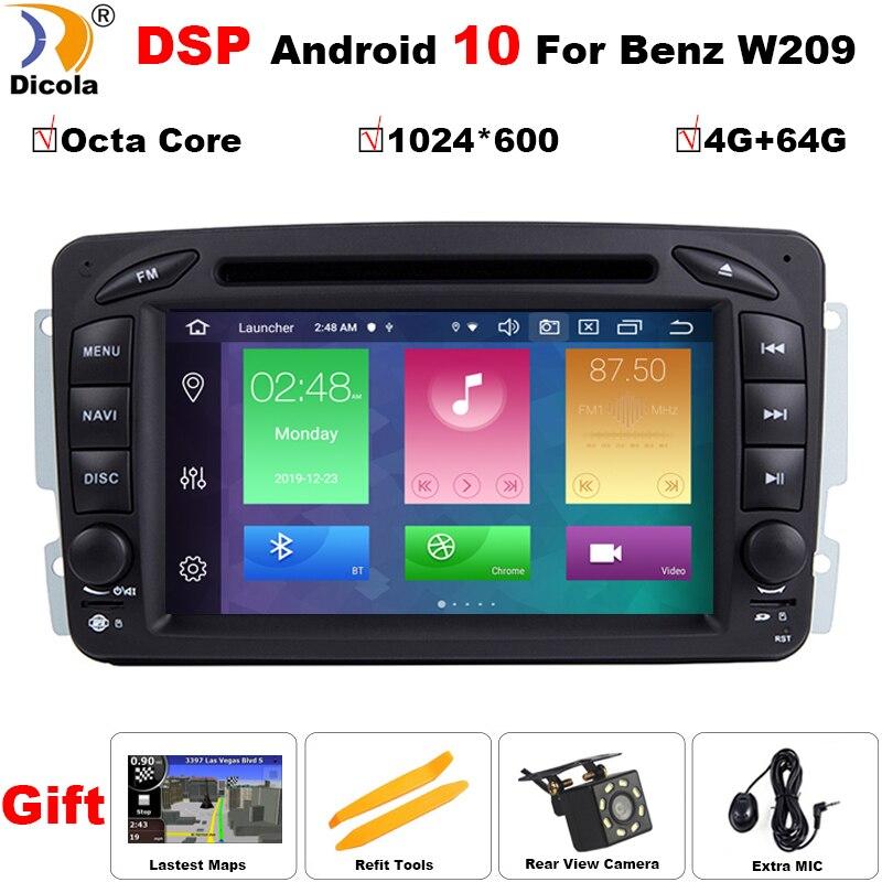 4 + 64G PX5 Android 10 DSP reproductor de DVD de coche para Mercedes Benz CLK W209 W203 W463 W208 Wifi 3G GPS Radio Bluetooth estéreo de audio de medios de comunicación