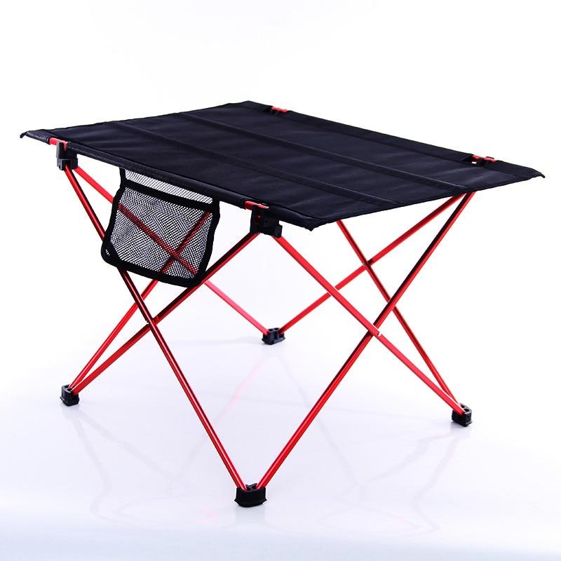 Mesa plegable portátil para acampar al aire libre, ultraligera, de aluminio, para...