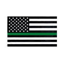 60x90cm/90x150cm Thin Green Line USA Flag 2x3ft/3x5ft The US Banner