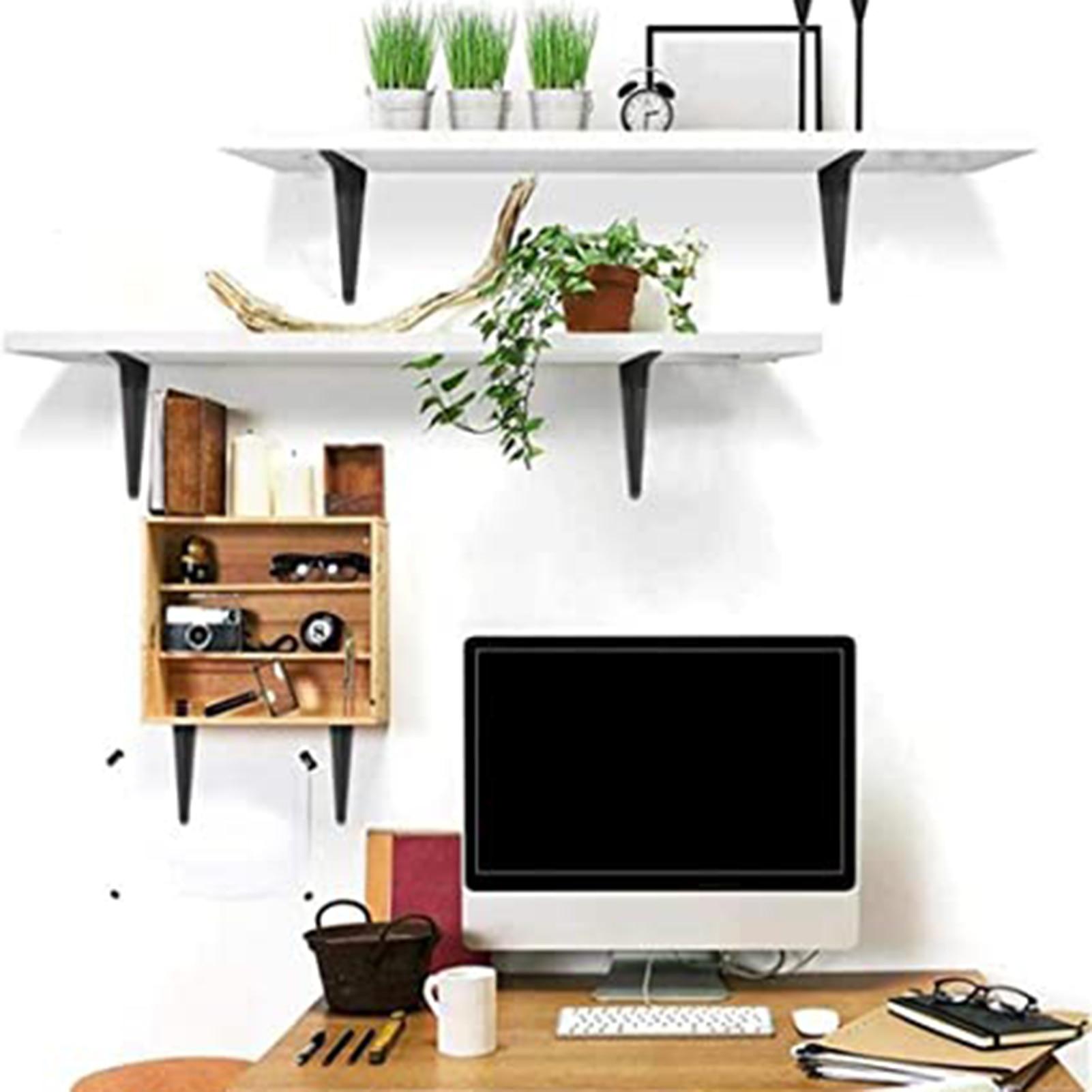 Soporte de Metal de ángulo recto en forma de L, estantes flotantes negros de alta resistencia para mejora del hogar, Conector de Mesa Plegable, 10 Uds.