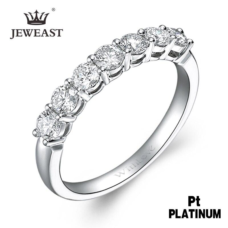 WQPY diamante Natural Pt950 anillo de oro puro pt950 anillo de oro sólido de lujo de moda clásico bonito joyería de Venta caliente nuevo 2020