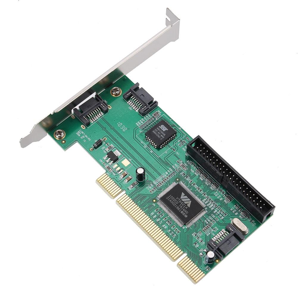 PCI a 3 puertos SATA + IDE Combo controlador tarjeta Adaptador convertidor VIA6421 Chip HDD AC388 SP99