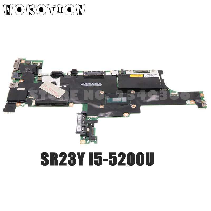 NOKOTION اللوحة الأم لأجهزة الكمبيوتر المحمول لينوفو ثينك باد T450S gemt1 NM-A301 FRU 00HT748 00HT750 مع SR23X I5-5300U وحدة المعالجة المركزية