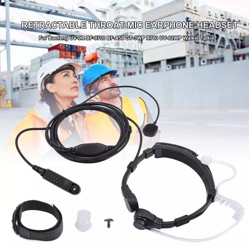 7.1mm Air Tube Throat Vibration Mic Headset + Z Tactical U-94/A U94 PTT for Hytera HYT PD702 /700 /700G PD780 /780G /780GM Radio enlarge