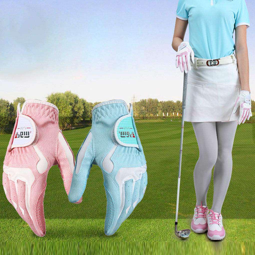 Women's Anti-slip Design Golf Gloves Left and Right Hand Breathable Sports Gloves