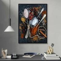 Affiche dart moderne de mode decoration de la maison  assaisonnement alimentaire  images dart mural  toile imprimee pour salon sans cadre