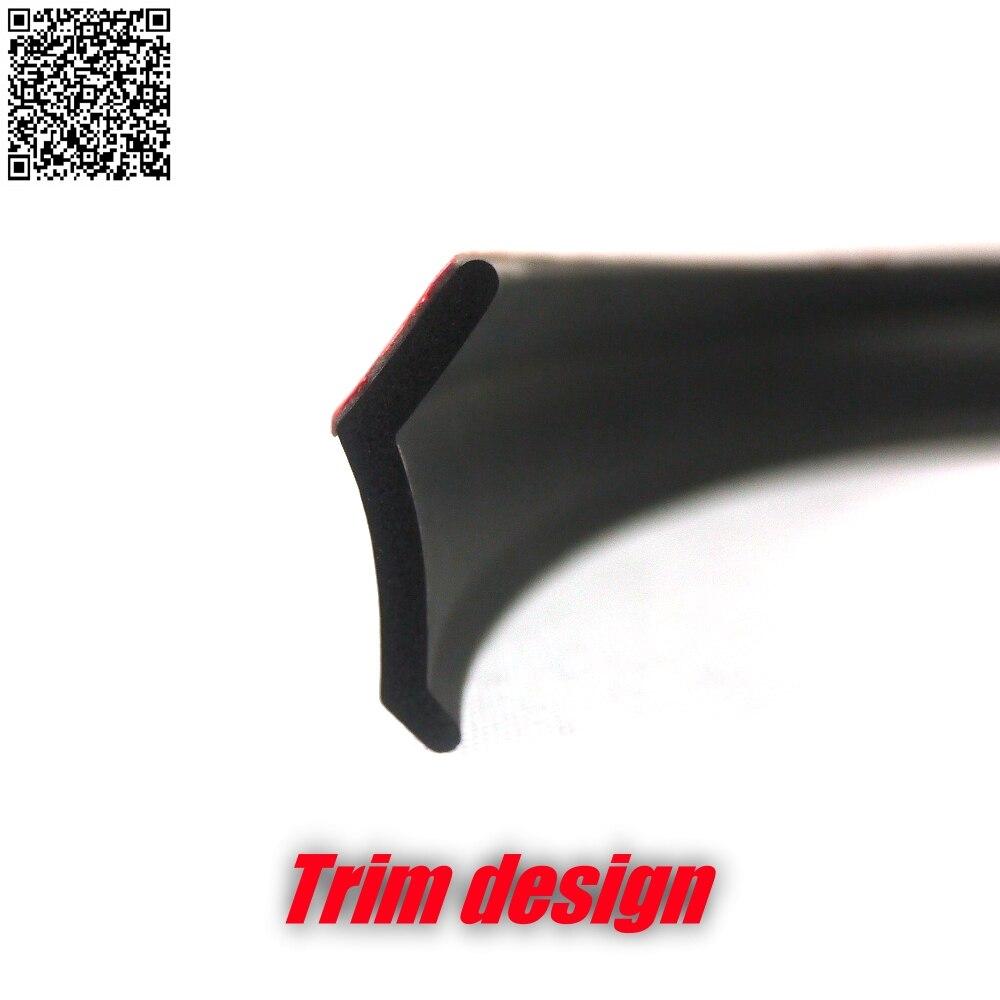 Deflector de labios delanteros para parachoques de coche, Kit de cuerpo de falda lateral, ajuste de parachoques trasero, labios de cinta Ture 3M para Audi A3 S3 RS3 1996 ~ 2016