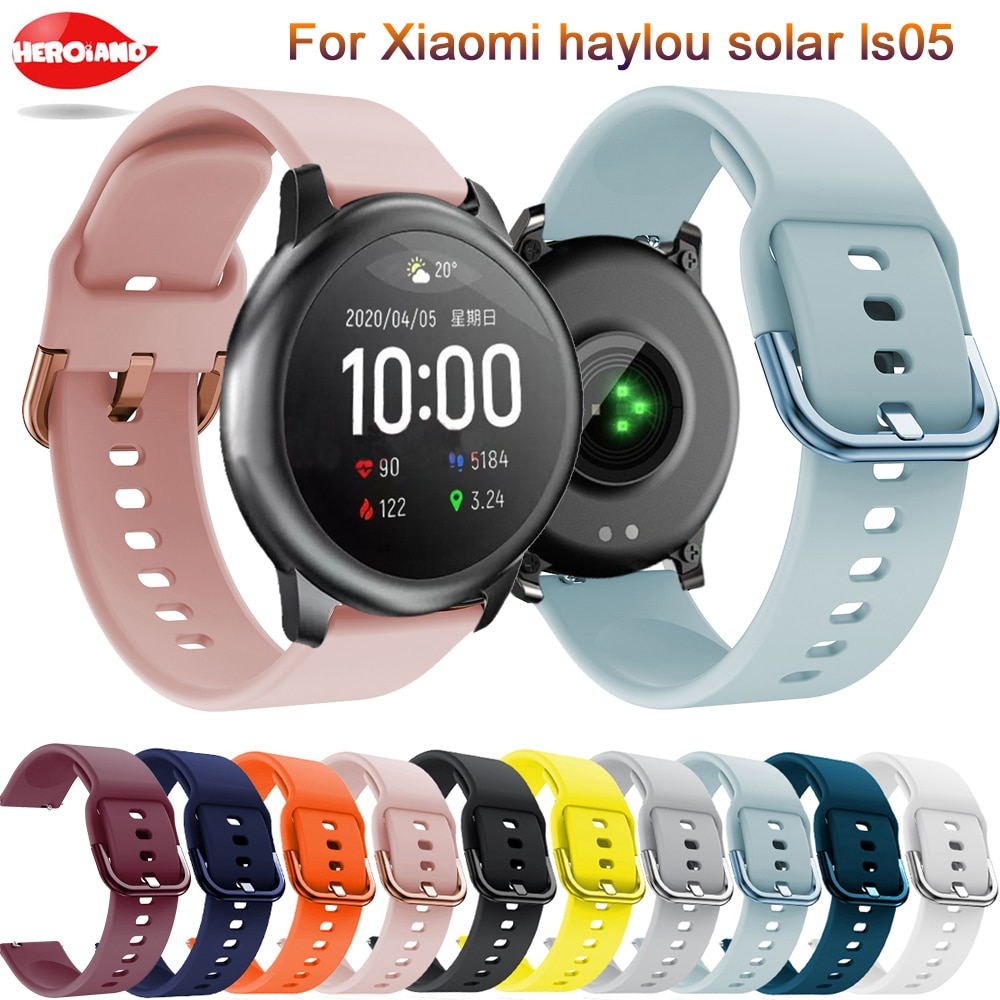 Soft silicone 22mm Watchband strap For Xiaomi Haylou solar ls05 original Smart Wristband Bracelet For Xiaomi Haylou Solar Correa