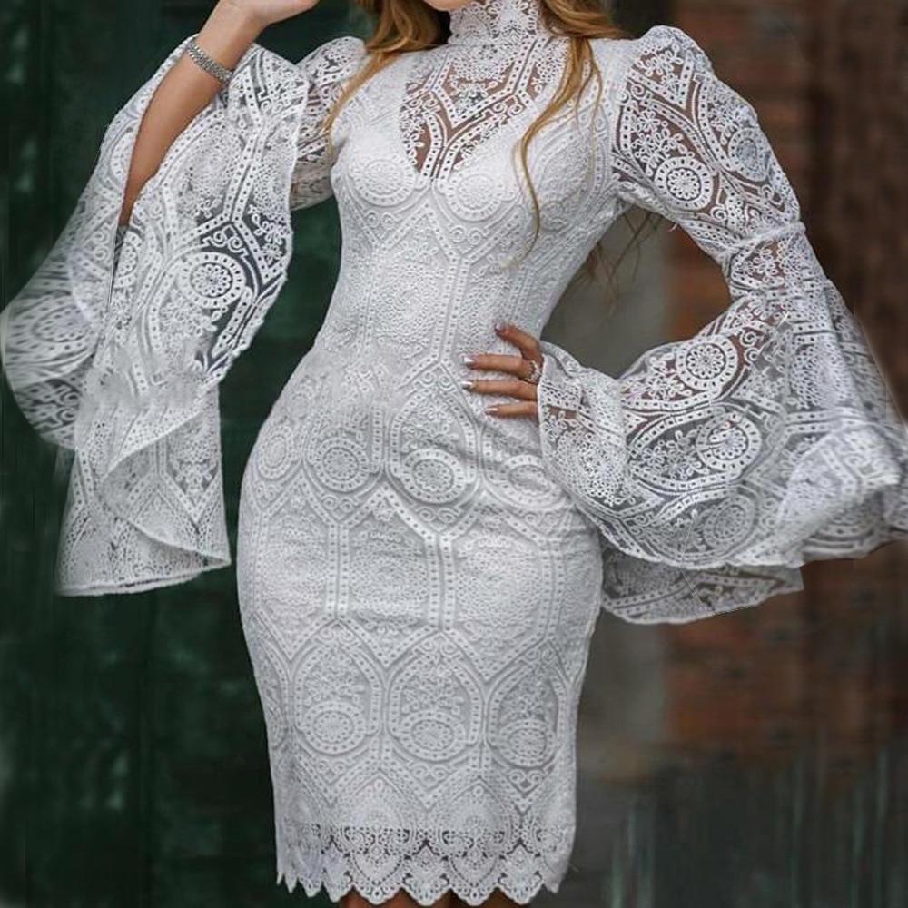 فستان كوكتيل من قطعتين بأكمام طويلة ، فستان سهرة قصير ، أنيق ، للنساء