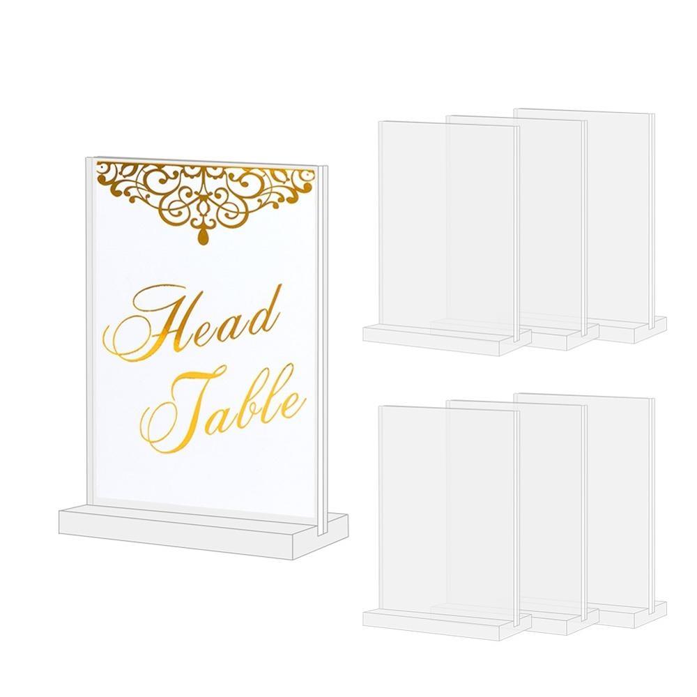 OurWarm 10 Uds números de mesa de boda acrílicos con soportes DIY Mesa acrílica número Stand señalización de boda para Decoración de mesa de boda