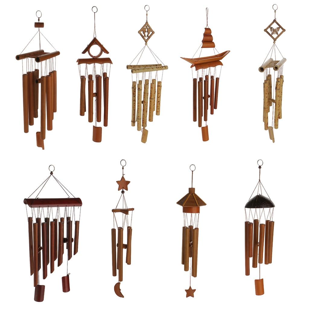 Carillons éoliens salon en bambou   Décor de jardin, de cour, de plein air, de détente, de serre-vent, décor détoile