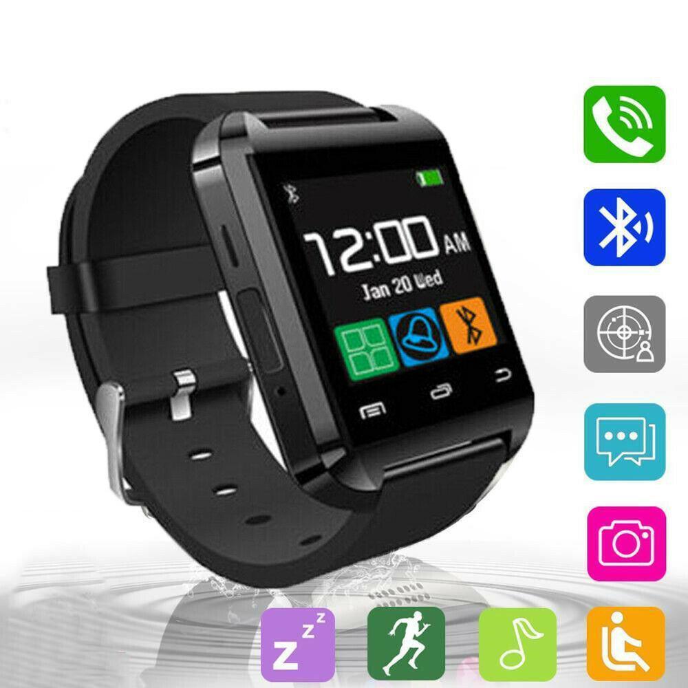 Reloj de pulsera inteligente Bluetooth para Android Samsung iPhone hombre mujeres