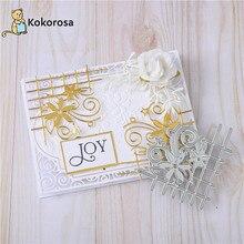 Kokorosa Corner Dies Flower Lace Fence Frame Metal Cutting Dies for Card Making New 2020 Scrapbooking Album