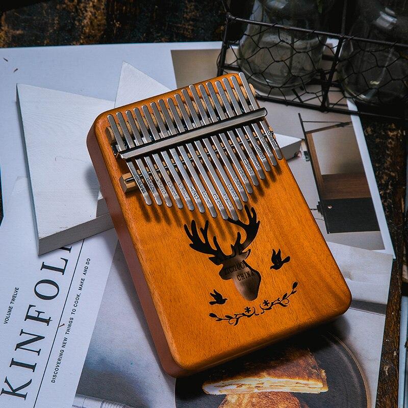 17 Key Kalimba Thumb Piano High Quality Mahogany Africa Sanza Mbira Keyboard Musical Instrumentos Finger Piano xmas Gift enlarge