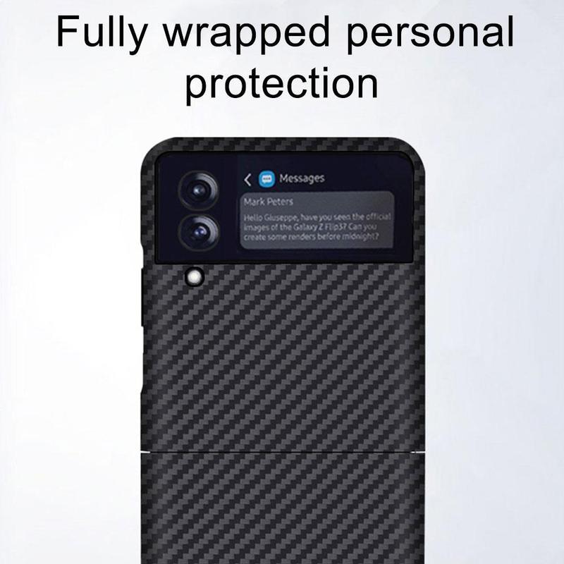 Original Carbon Fiber case for Samsung Galaxy Z Flip 3 Flip Cover Anti-knock luxury Cases for Flip3