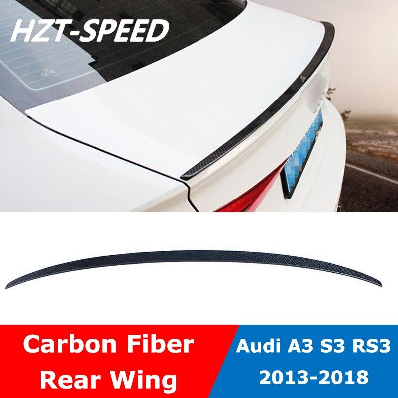 A3 S3 RS3 estilo Material de fibra de carbono alerón trasero para maletero para Audi A3 S3 RS3 2013-2018