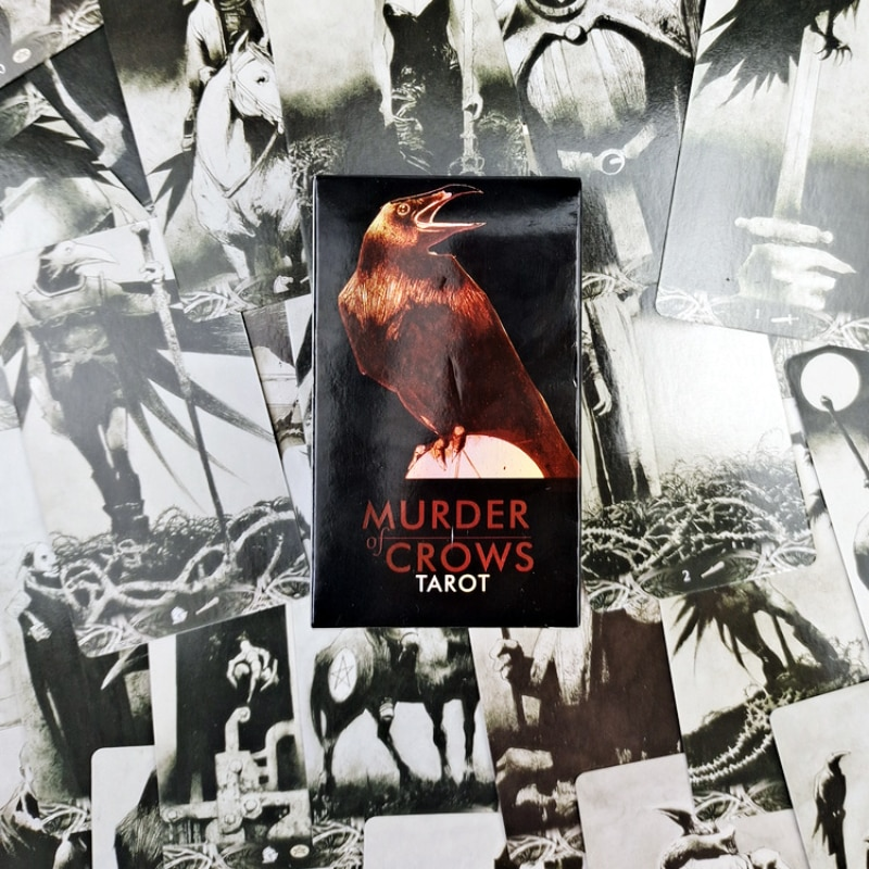 2021 Hot Sell Murder of Crows Tarot  Cards 78Cards Tarot Cards For Divination Personal Use Full English Version Tarot 2021 hot sell dreaming way tarot cards 78cards tarot cards for divination personal use full english version tarot