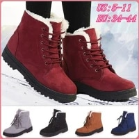 women boots plus size 44 snow boot for women winter shoes heels winter boots ankle botas mujer warm plush insole shoes woman