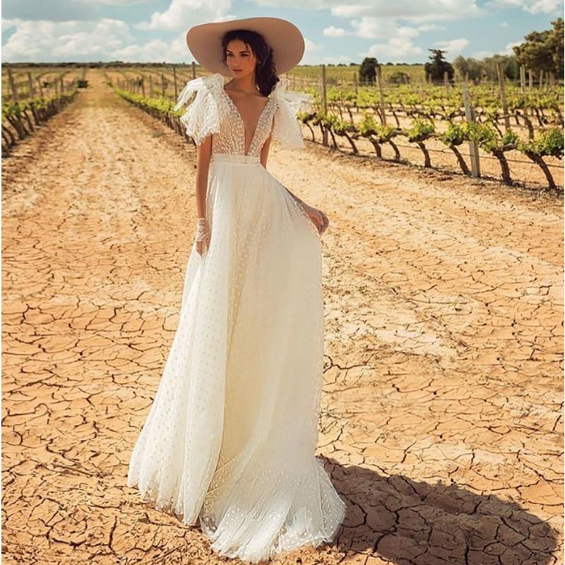 Vestido De boda con espalda al aire, elegante Vestido De novia clásico...