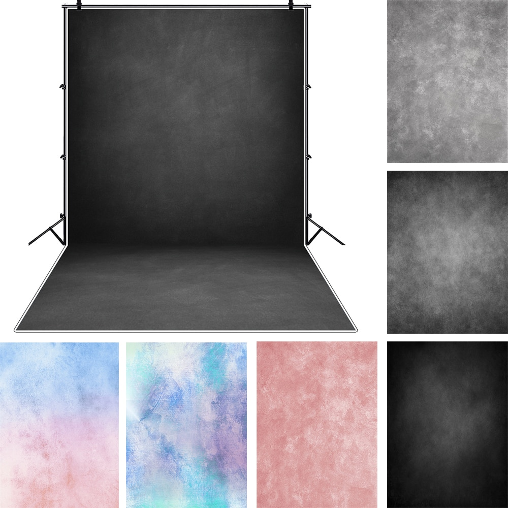 Laeacco Light Blue Gradient Solid Color Surface Of Wall Fantasy Baby Pattern Photography Background Photo Backdrop Photo Studio