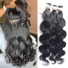 Body Wave Microlinks I Tip Hair Extensions Indian Natural Wavy Virgin Bulk Hair For Women 100% Human