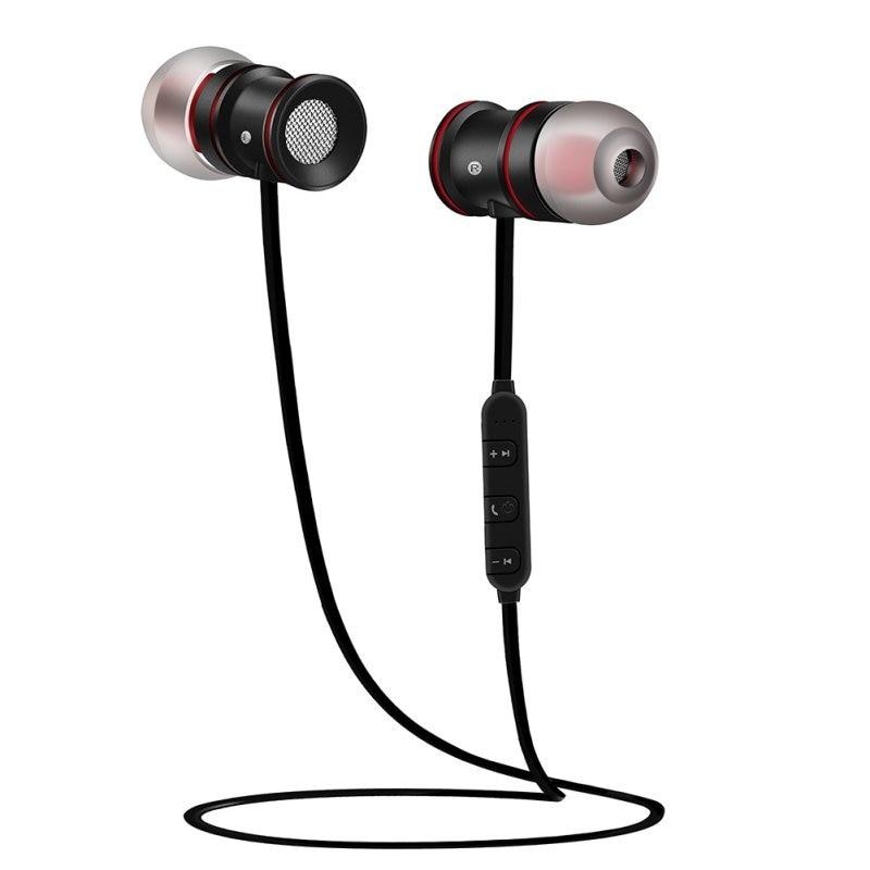 Auricular magnético de Metal auriculares Bluetooth estéreo auriculares inalámbricos con micrófono CSR 8635 V4.0