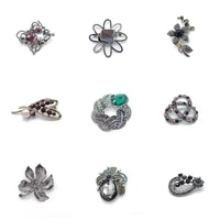 pd brooch 2021 new business suit clothing accessories retro flower maple leaf love brooch jewelry