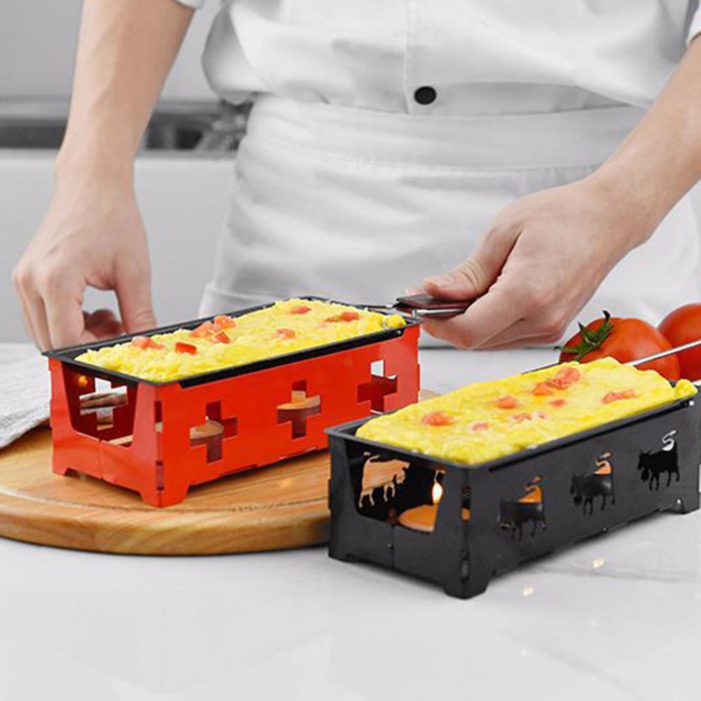 Antiaderente mini forno de queijo para churrasco alça longa bandeja de cozimento grill gadget de cozinha fácil de armazenar