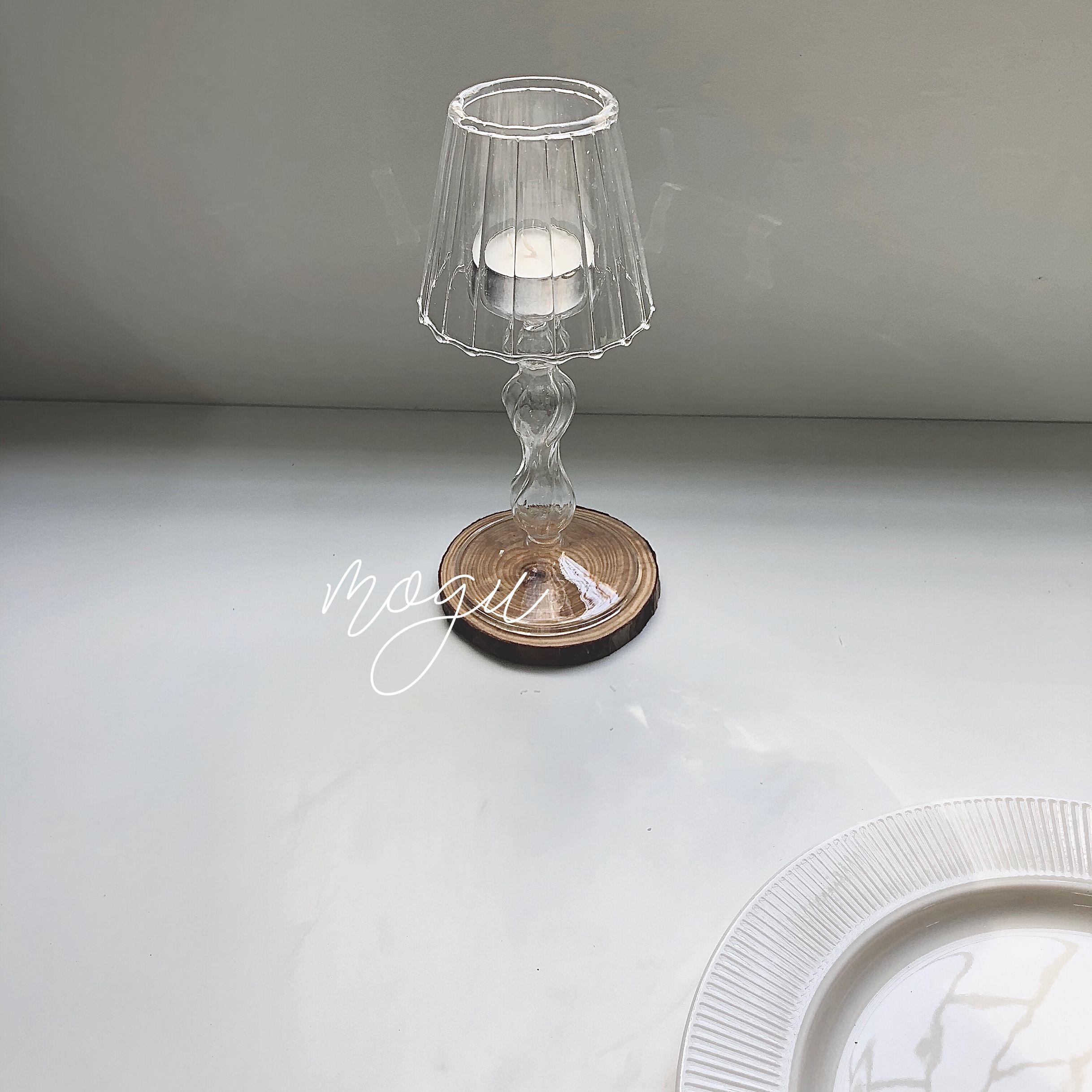 Portavelas De Cristal moderno De Cristal De lujo para bodas, Portavelas nórdicas...