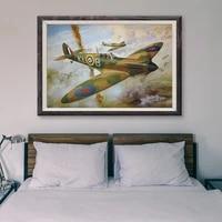 T003     peinture classique retro 2 operations de vol davion de guerre  affiche en soie personnalisee  decoration murale  cadeau de noel