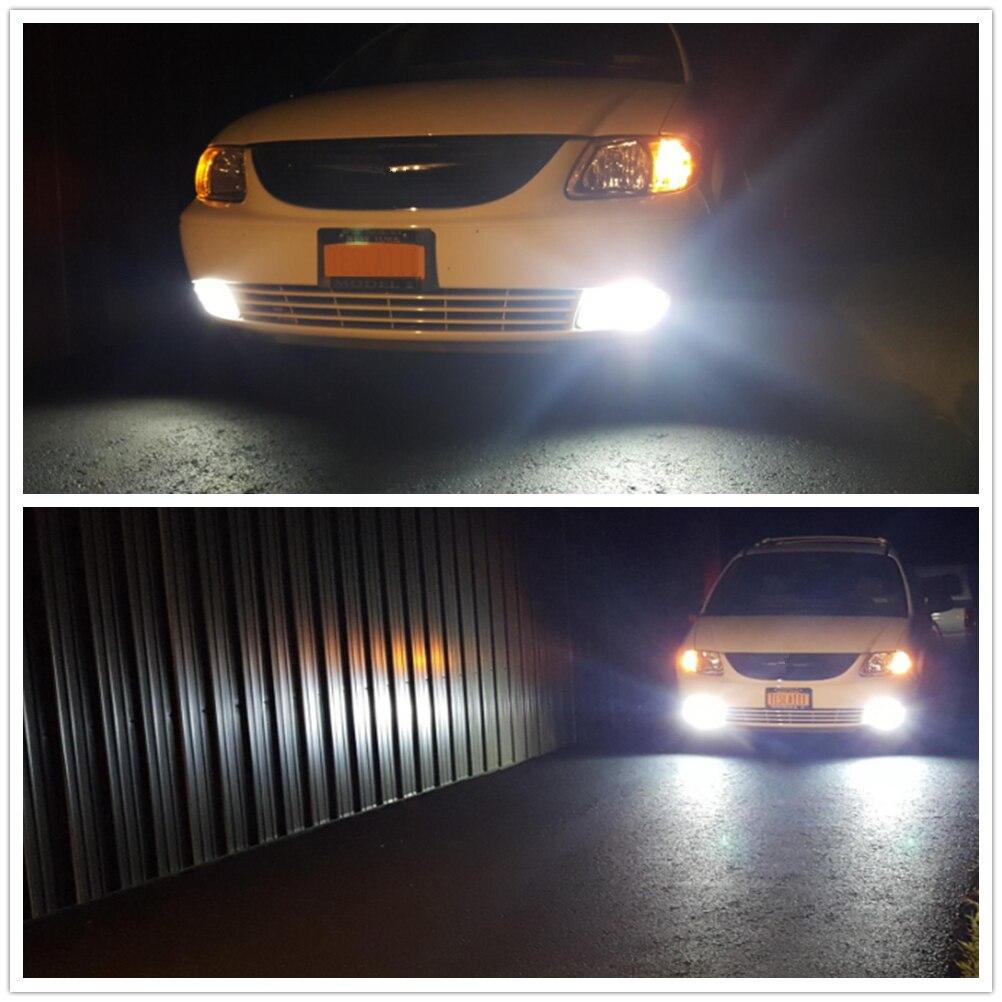 WLJH 2x Auto Car Light Led T10 W5W W3W T15 921 H7 H8 H11 H1 H3 Light Day Running LED DRL Light Fog Lamp Bulb 1500LM AC 9V - 30V