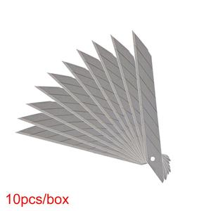Image 4 - CNGZSY 50 шт. лезвий 9 мм 30 градусов нержавеющая сталь наконечник для универсального ножа школьные и офисные канцелярские принадлежности упаковочная упаковка художественный резак E03