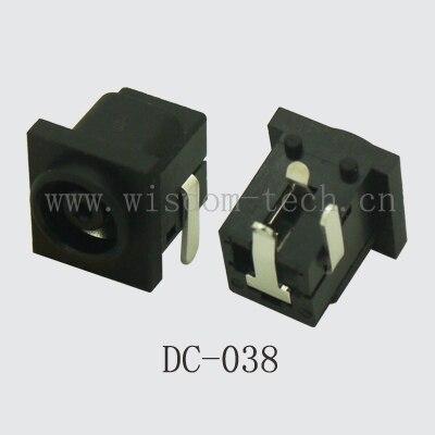 شحن مجاني 100 قطعة/الوحدة تيار مستمر السلطة جاك DIP 3pin ل اللوحي تيار مستمر جاك الكمبيوتر المحمول DC-038