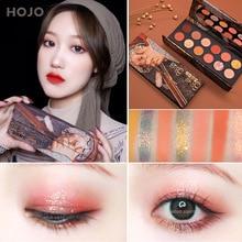 Paleta de sombras de ojos HOJO 12 colores pintura aristocrática pigmento mate sombra de ojos maquillaje en polvo purpurina cristal sombra de ojos