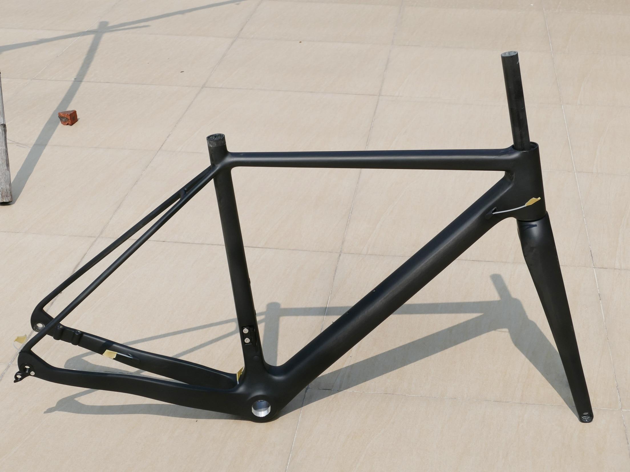 New Carbon Toray Matt Cyclocross Bike Disc Brake BSA BB30 Bicycle Frame 12 * 142mm Thru Axle  +  Fork 15 * 100mm Thru Axle