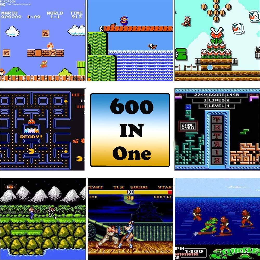3-дюймовый Мини Аркадные игры консоль для FC Портативный 8 бит портативных игровых консолей встроенный 600 игр двойной режим подарок
