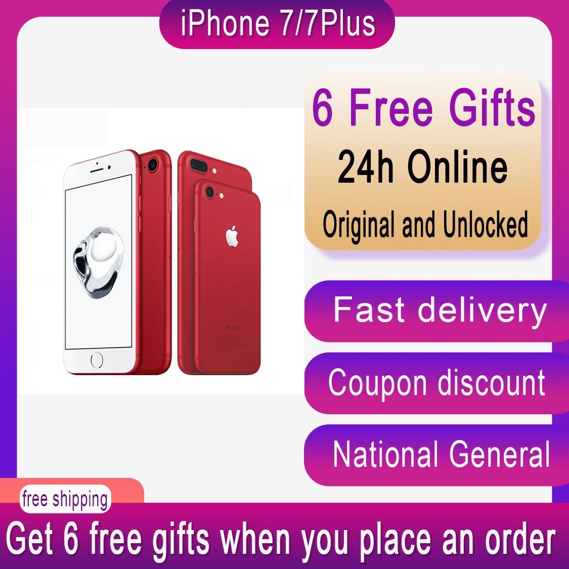 Original unlocked Apple iPhone 7/iPhone 7 Plus IOS smartphone with 32/128/256GB Cellphone 4G LTE  NFC A10 Quad-core fingerprint